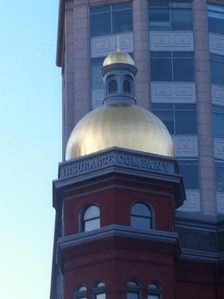 The Gilded Dome of a Historical Insurance Company in Washington, D.C.
