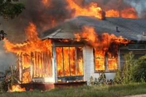 House on Fire in North Escambia, Florida