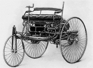 The First Benz (1885), photo courtesy of Wikipedia